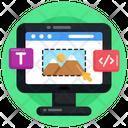 Design Tool System Coding System Development Icon