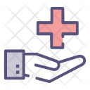 Cross Heartbeat Love Icon