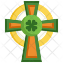 Cross St Patrick Day Faith Icon