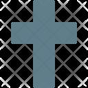 Christian Cross Christmas Icon