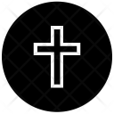 Round Cross Christianity Icon
