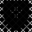 Shield Cross Christian Icon