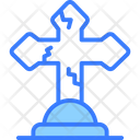 Cross Ghost Monster Icon