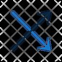 Cross Double Crossed Icon