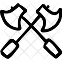 Cross Axes Two Axes Weapon Icon