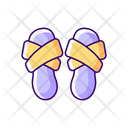 Cross Band Slippers Icon