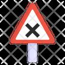 Cross Board Road Post Traffic Board Icon