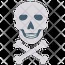 Cross Bones Risk Danger Icon
