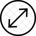 Circle Arrow Out Top Right Cross Expand Cross Maximize Icon