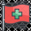 Cross Flag Hospital Flag Medical Flag Icon