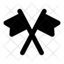 Cross Flags Icon
