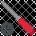 Cross Head Screwdriver Tool Icon