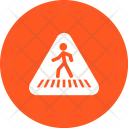 Cross Road Sign Icon