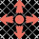 Cross Ahead Traffic Icon