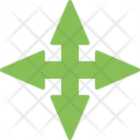 Cross Road Ahead Icon