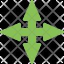 Cross Ahead Navigation Icon