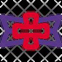 Cross Shield Badge Icon
