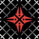 Cross Star Icon