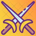Cross Swords War Symbol Weapon Icon
