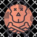 Crossbones Skull Death Icon