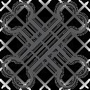 Crossbones Danger Symbol Halloween Bones Icon