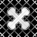 Crossbones Danger Halloween Icon
