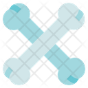 Physiotherapy Crossbones Skeleton Icon