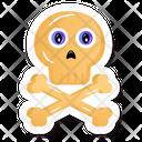 Crossbones Danger Halloween Bones Icon