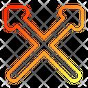 Crossed Arrows Icon