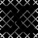 Crossed Arrows Merge Arrows Directional Arrows Icon