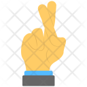 Crossed Finger Index Icon