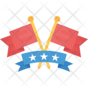 Crossed Flag Banner Icon