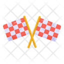 Flags Crossed Flags Emblem Icon