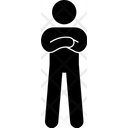 Crossed Hand Man Standing Icon