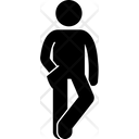 Crossed Leg Hand Inside Pocket Man Icon