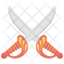 Crossed Sword Battle Equipment War Tool Icon