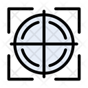 Crosshair Target Shooting Icon