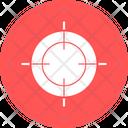 Crosshair Gun Sight Reticle Icon