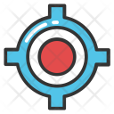 Crosshair Target Sign Icon