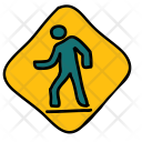 Crossing Road Warning Icon