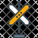 Crossroad Sign Noticeboard Icon