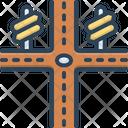Crossroad Journey Highway Icon
