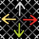 Crossroad Arrow Crossroad Intersection Road Guide Icon