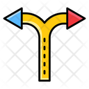 Crossroad Arrows Direction Approach Icon