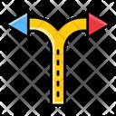 Crossroad Arrow Icon