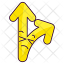 Crossroad Arrow Crossroad Intersection Road Guide Icon