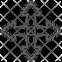 Crossroad Arrows Crossroad Intersection Road Guide Icon