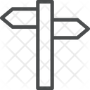 Crossroad Sign Icon