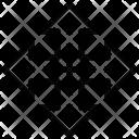 Crossroads Arrows Sign Icon