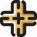 Crossroad Crossroads Transportation Icon